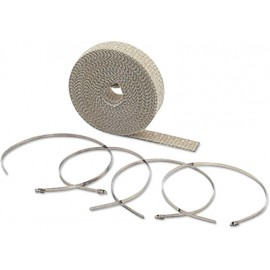 "KIT DE BANDE D'ECHAPPEMENT WRAP EXHAUST KIT TAN 1""X50"""