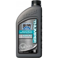 BEL-RAY HUILE THUMPER BLEND 4T 10W-40 1L - BEL-RAY THUMPER RACING SYNTHETIC ESTER BLEND 4-STROKE ENGINE OIL 10W-40 1 LITER pièce moto