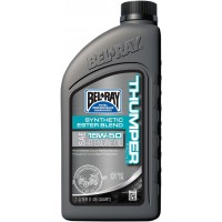 BEL-RAY HUILE THUMPER BLEND 4T 15W-50 1L - BEL-RAY THUMPER RACING SYNTHETIC ESTER BLEND 4-STROKE ENGINE OIL 15W-50 1 LITER pièce moto