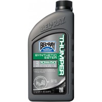 BEL-RAY HUILE THUMPER FULL SYN 10W-50 1L - BEL-RAY WORKS THUMPER RACING SYNTHETIC ESTER BLEND 4-STROKE ENGINE OIL 10W-50 1 LITER pièce moto