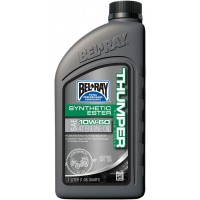 BEL-RAY HUILE THUMPER SYN 10W60 1L - BEL-RAY BEL-RAY WORKS THUMPER RACING SYNTHETIC ESTER 4-STROKE ENGINE OIL 10W60, 1L pièce moto