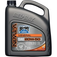 BEL-RAY HUILE VTWIN 20W50 4L - BEL-RAY ENGINE OIL VTWIN 20W-50 4 LITER pièce moto