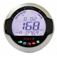 Compteur digital LCD mutlifonctions Koso D64 GP Style rond universel