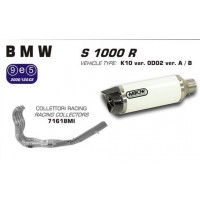 "POT ARROW LIGNE COMPLETE FULL SYSTEM "" RACE TECH ALUMINIUM WHITE "" BMW S 1000 R 2014"