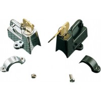 HELMET LOCK KIT-CHROME